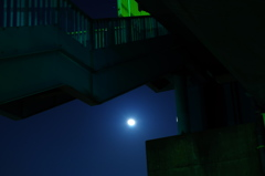 Moon of the bottom of the stairs
