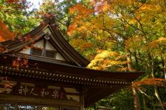 2017年11月、宝登山神社で(2)