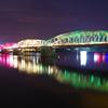 フエのパフューム・リバーの橋のライトアップ
