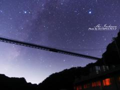 竜神大吊橋と天の川