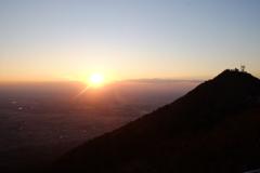 筑波山から 日没