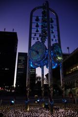 イルミネーション時計 中野サンプラザ広場