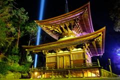 冷え込む夜と照らされる石山寺2