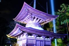 冷え込む夜と照らされる石山寺4