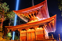 冷え込む夜と照らされる石山寺3