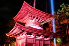 冷え込む夜と照らされる石山寺5