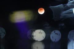皆既月食と玉ボケ
