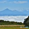 雲海に浮かぶ磐梯山