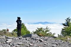 雲海とカメラマン