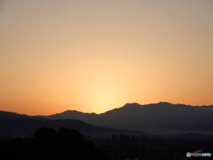 石鎚山 日の出前