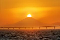 ダイヤモンド富士(袖ヶ浦海浜公園) 20181001