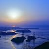 しまなみ海道 来島海峡大橋夕景