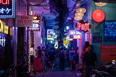 ベトナムのネオン街
