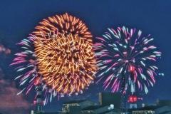 冬の花火 昭和記念公園
