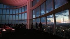 六本木ヒルズ展望台からのMount Fuji ②