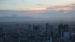 六本木ヒルズスカイデッキからのMount Fuji