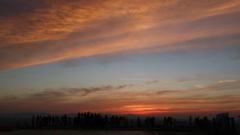 夕陽が沈んだあとの一瞬の時