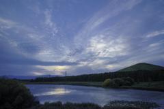 モエレ沼公園の夕焼け