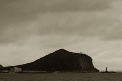 利尻の寂しい岬