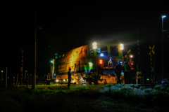 深夜の保線車