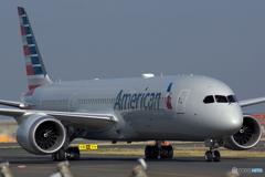 アメリカン航空 Boeing787-9 @羽田空港整備地区