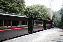 蒸気機関車12号・9号・三等客車