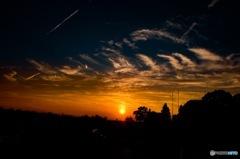 夏至の夕日