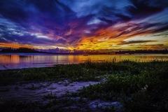 沖縄 シークレットビーチの夕日