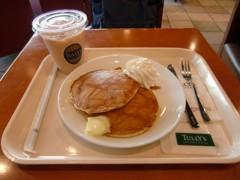 Tully'sで注文したパンケーキ