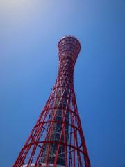 真下から見上げたポートタワー!!