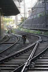 箱根湯本駅の線路