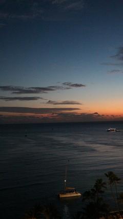 Hawai 夜の海