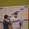ヒーローインタビュー 浅村キャプテンカメラ目線!