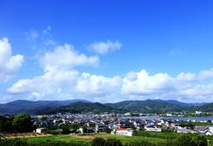 初夏の奥浜名湖の街並み