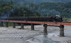 大井川を渡るSL