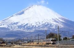 富士山の裾野を走る