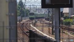 八尾駅王寺方面を臨む
