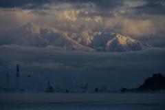 富山湾越しの北アルプス 其の二