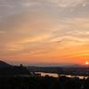 犬山城の夕暮れ