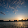 犬山の夕暮れ時