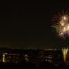 犬山城と花火