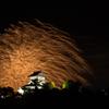 犬山城と花火5