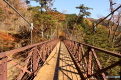 三頭大滝の吊り橋