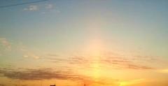 「サンピラー(太陽柱)」
