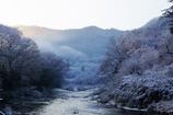 久慈川冬の朝