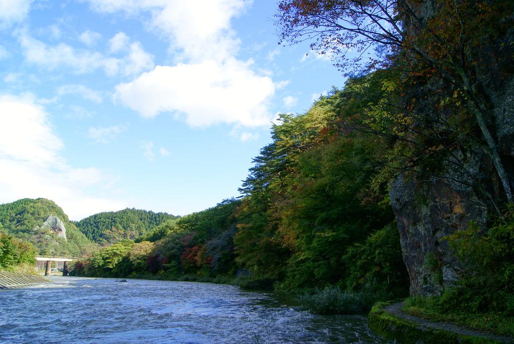 久慈川河畔の紅葉