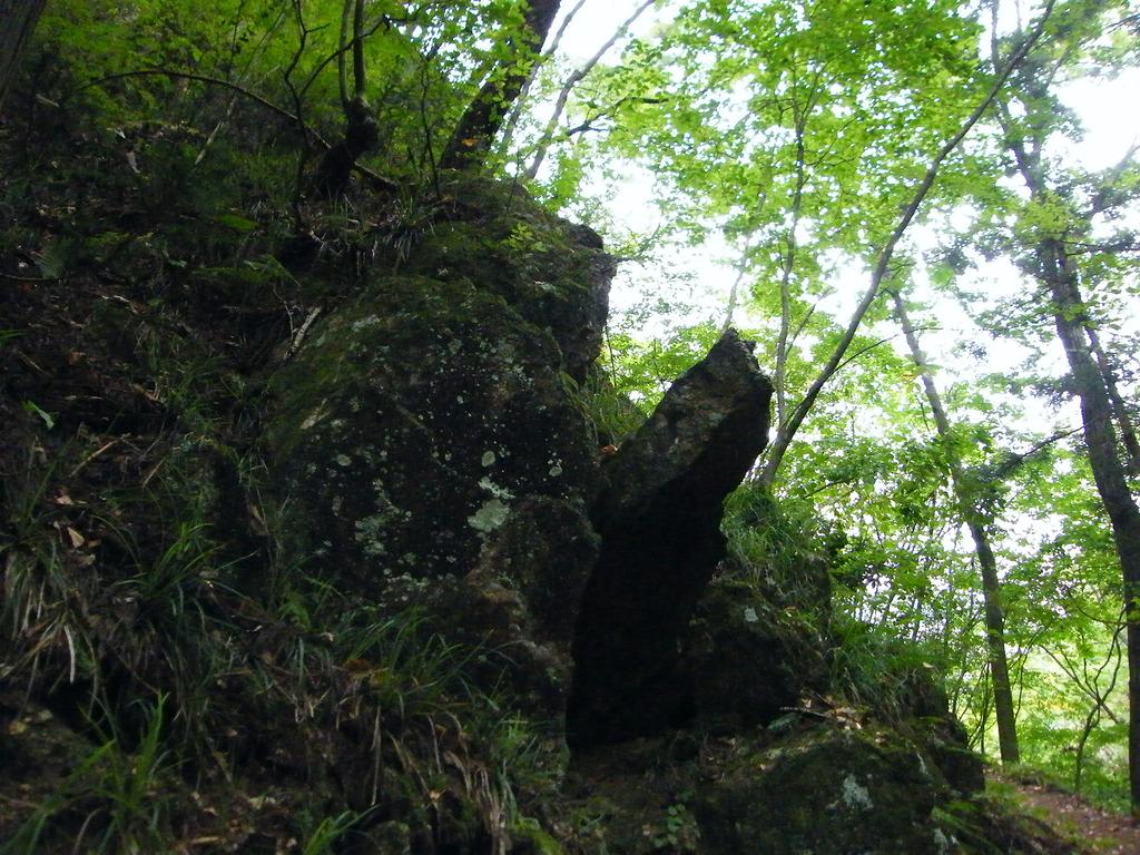 屹立する岩