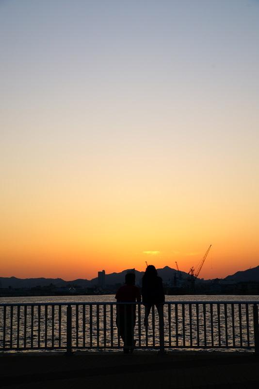 ポーアイの夕日