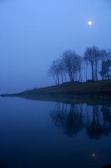 霧の千丈寺湖 '10.02.01 ②