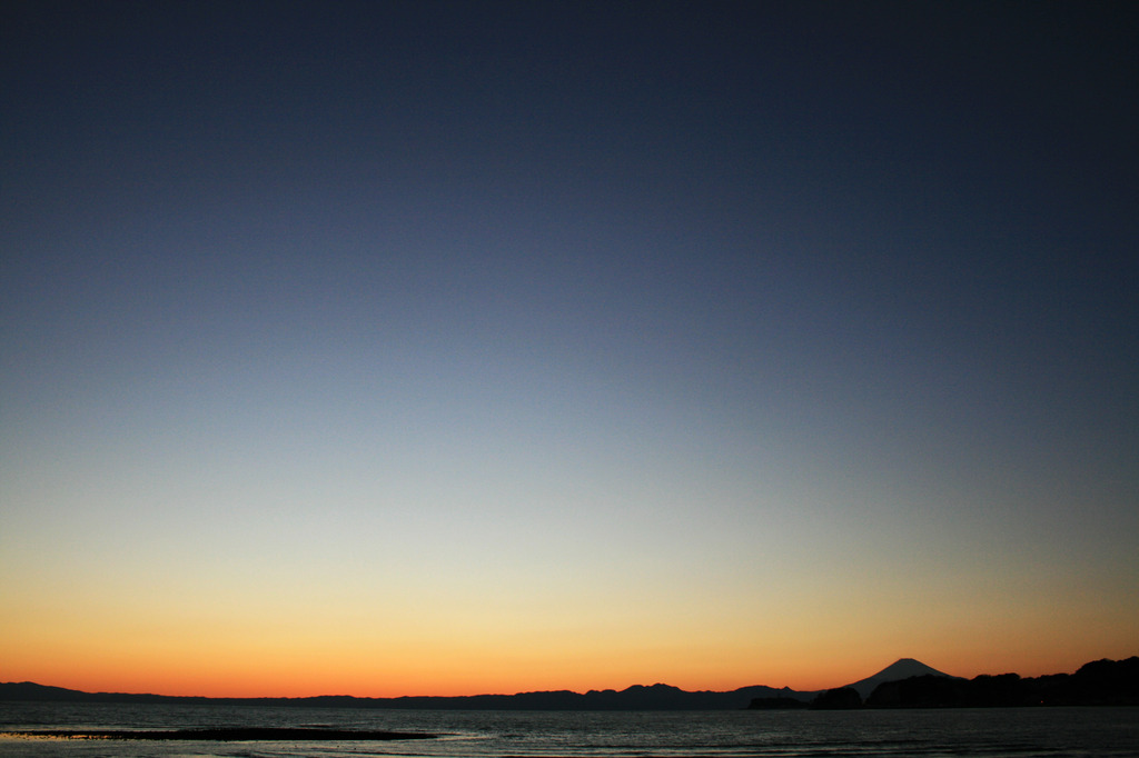 雲のない夕焼け